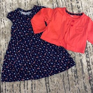 New Carters Dress with sweater